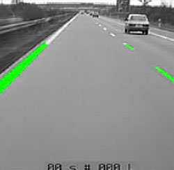 白線追跡による自動走行(領域の絞込み)