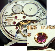 透明体の計測: 時計用軸受け