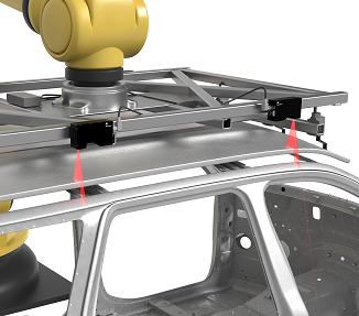 自動車のパネル取付ロボットガイダンス